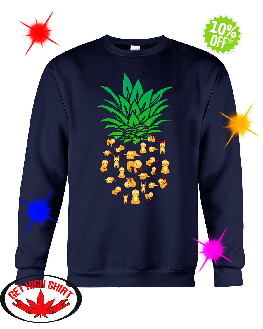 Pineapple sloth sweatshirt