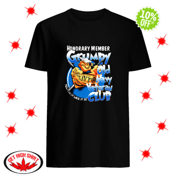 Popey Honorary member grumpy old navy veteran club shirt
