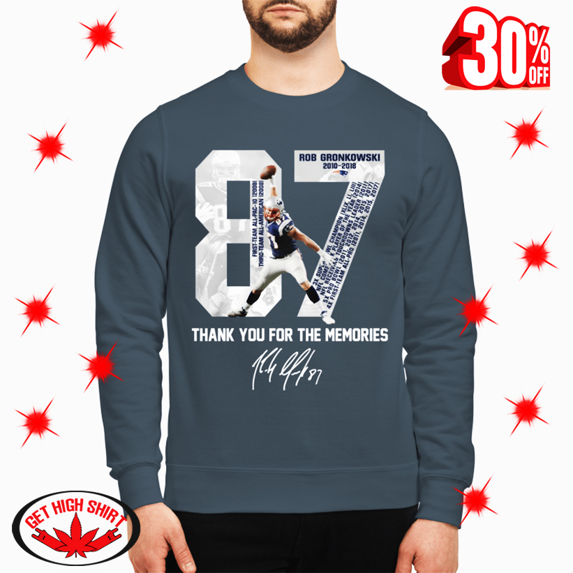 Rob Gronkowski Patriots Thank You For The Memories sweatshirt