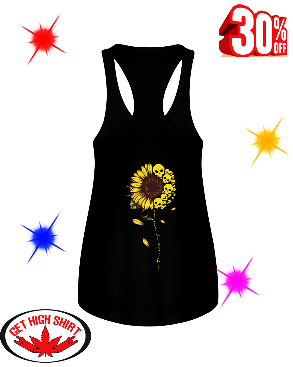 Skull Sunflower You Are My Sunshine flowy tank