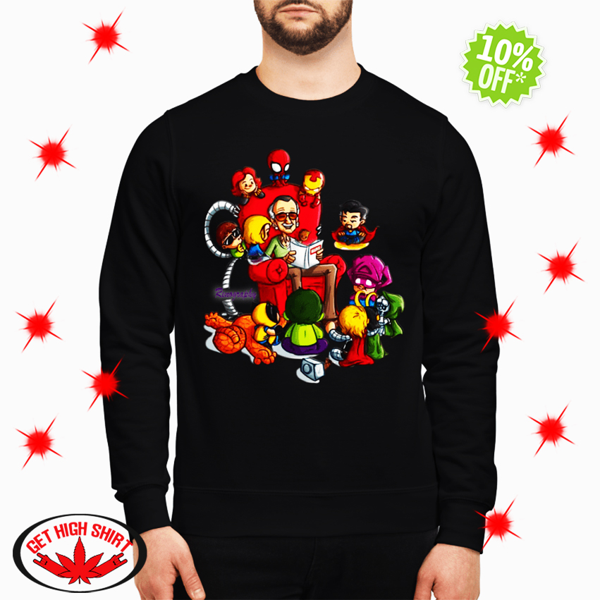 Stan Lee Marvel and Superhero Renography sweatshirt