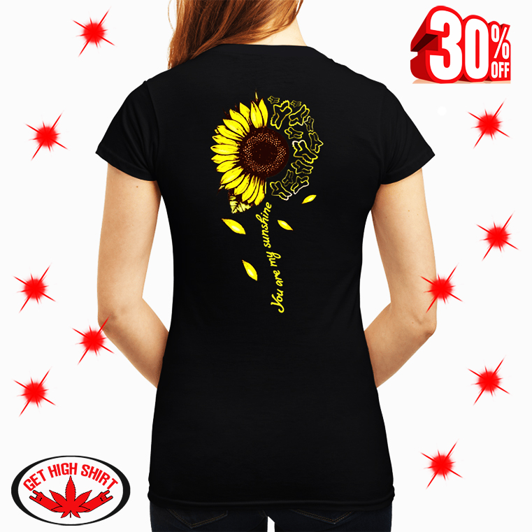Sunflower Fox Racing You Are My Sun Shine v-neck
