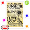 Sunflower You Are My Sunshine lyric poster