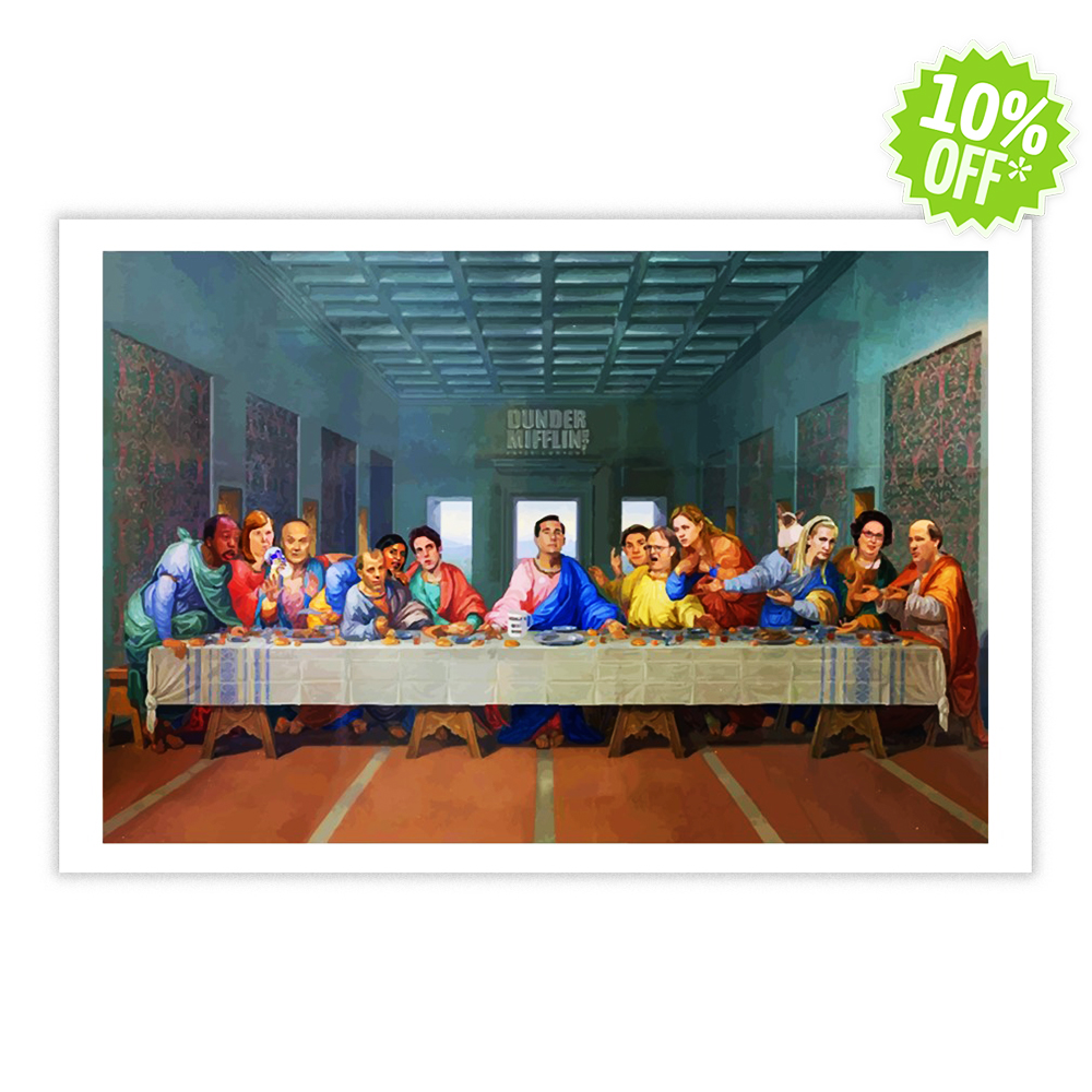 The Last Supper at Dunder Mifflin 17x11 poster