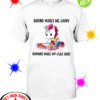 Unicorn baking makes me happy humans make my head shirt