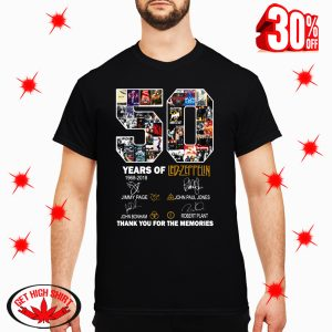 50 Years Of Led Zeppelin 1968 2018 Signature shirt