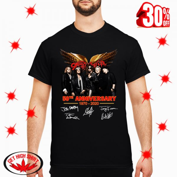 Aerosmith 50th Anniversary 1970 2020 Signature shirt