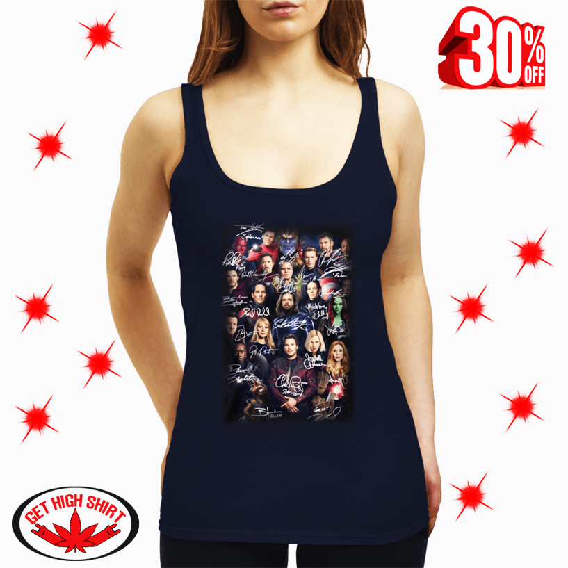 Avenger Endgame Marvel Characters Signatures tank top