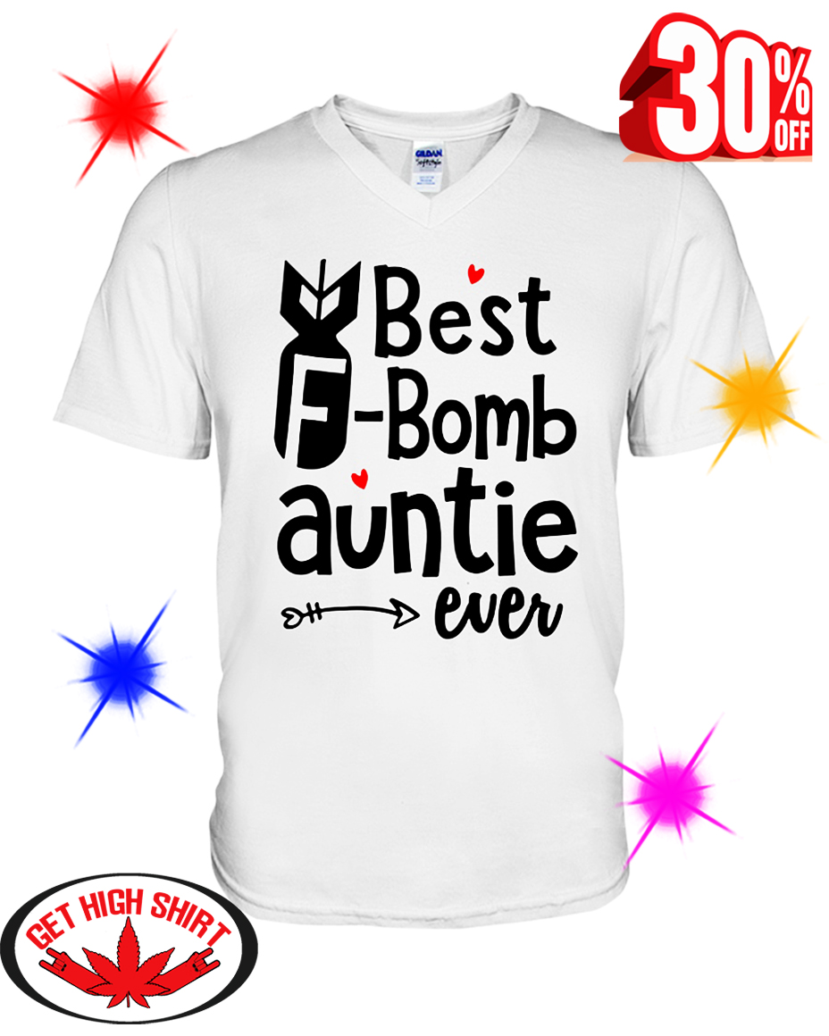 Best F-bomb Auntie Ever v-neck