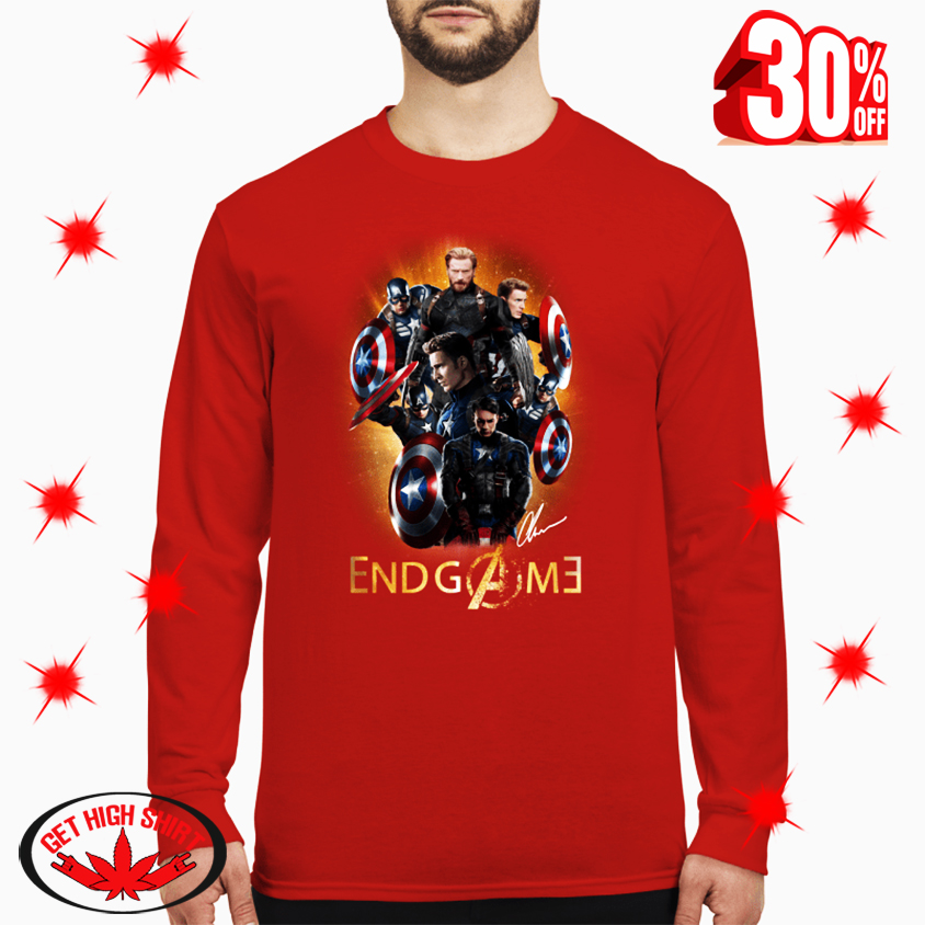 Captain America Avengers Endgame Signature long sleeve tee