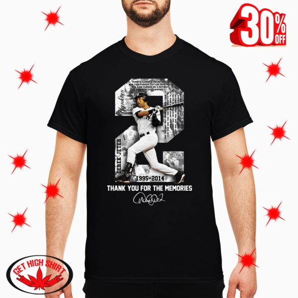 Derek Jeter MLB 1995 2014 Thank For The Memories Signature shirt