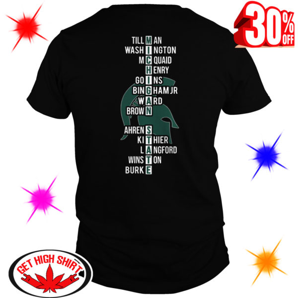 East Region Champions Michigan State Spartans Team Names shirt
