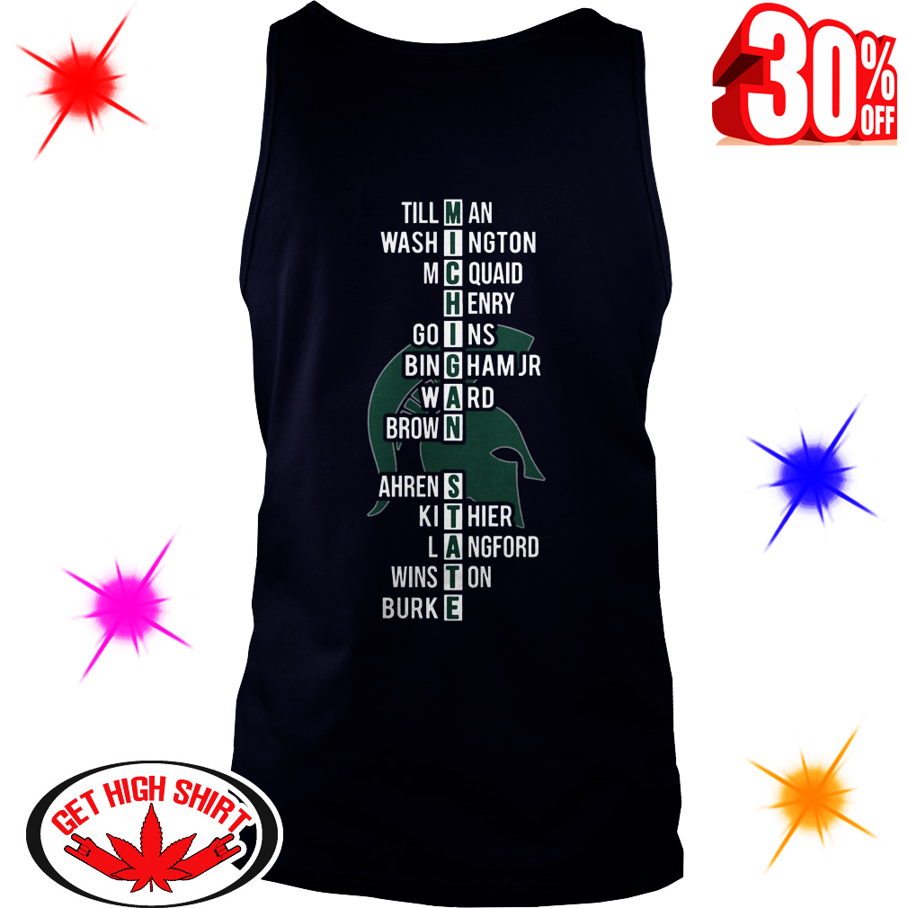 East Region Champions Michigan State Spartans Team Names tank top