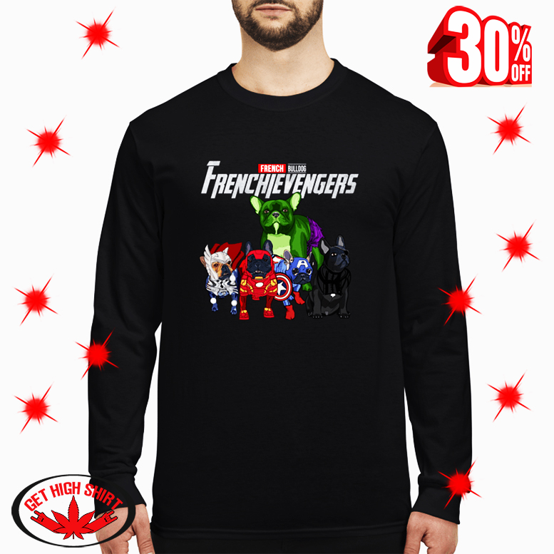 Frenchievengers French Bulldog long sleeve tee
