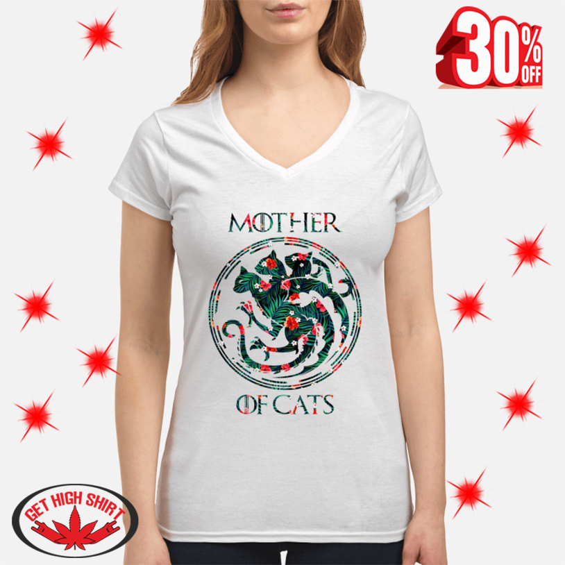 Mother Of Cats v-neck