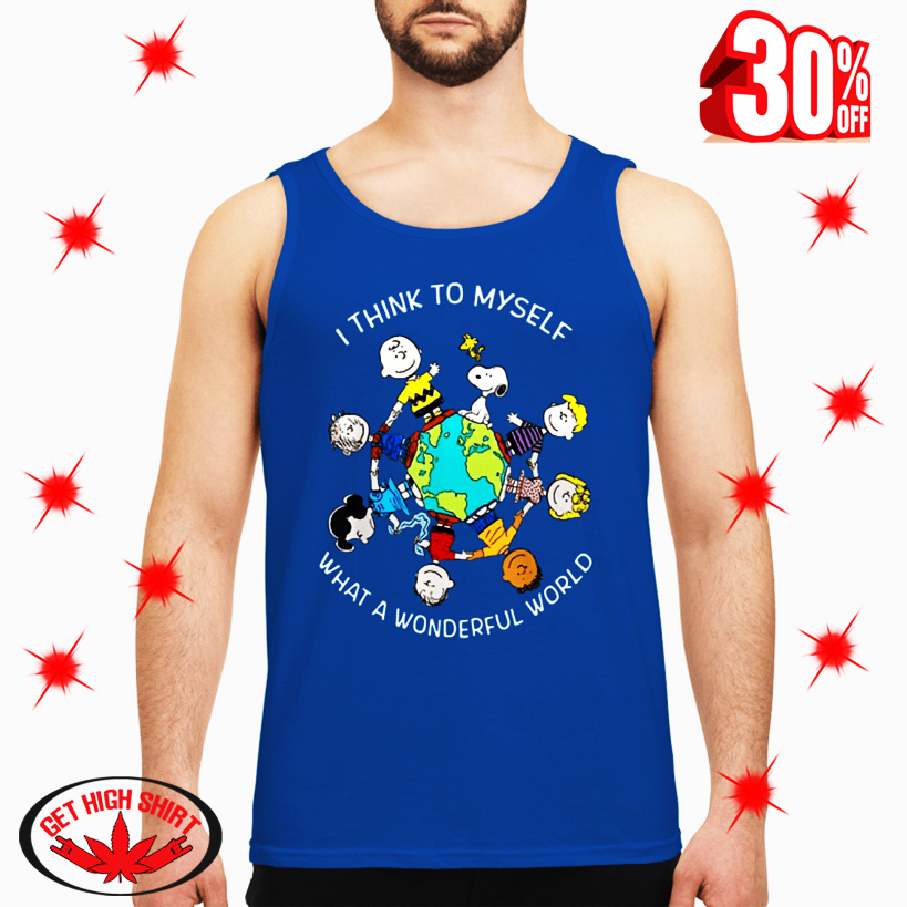 Peanuts I Think To Myself What a Wonderful World tank top