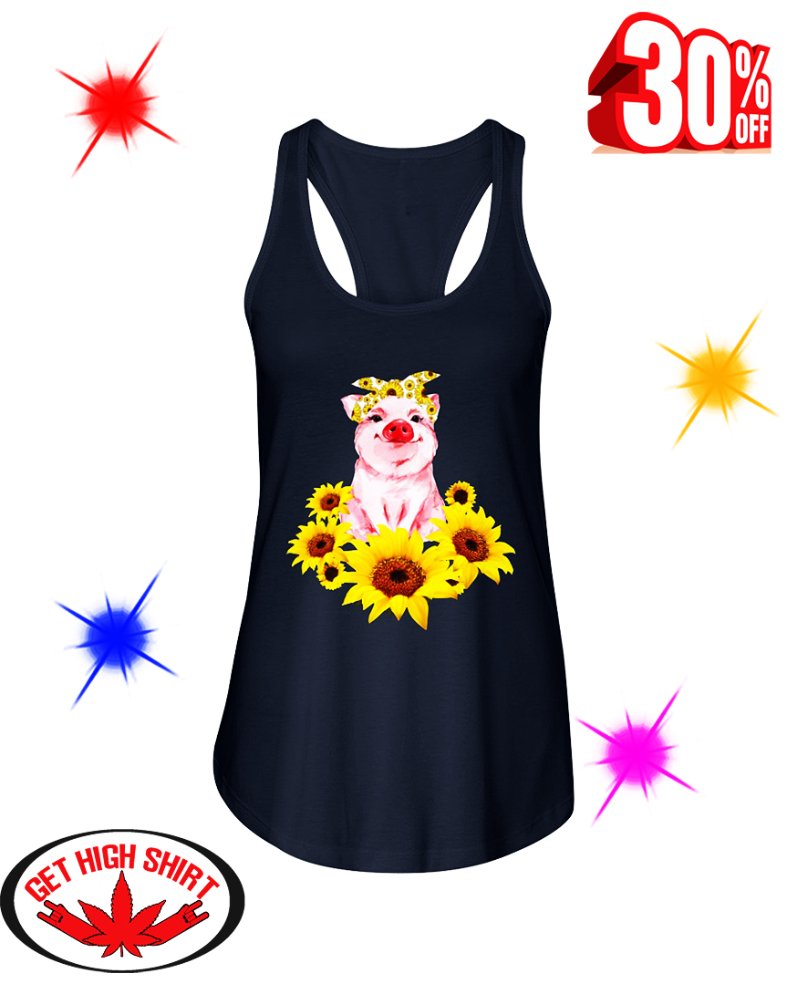 Pig with Sunflower flowy tank