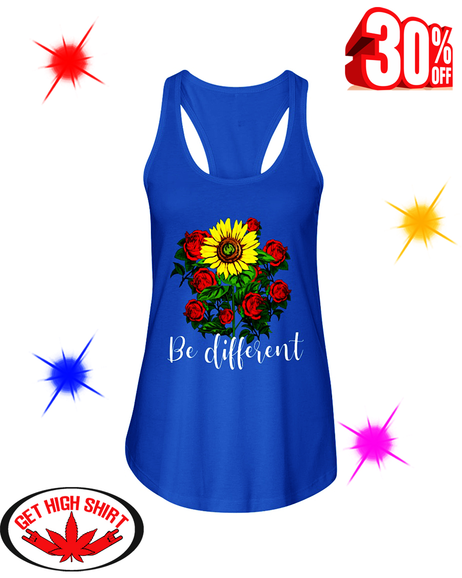 Rose Sunflower Be Different flowy tank
