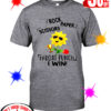 Sunflower Rock Paper Scissors Throat Punch I Win shirt