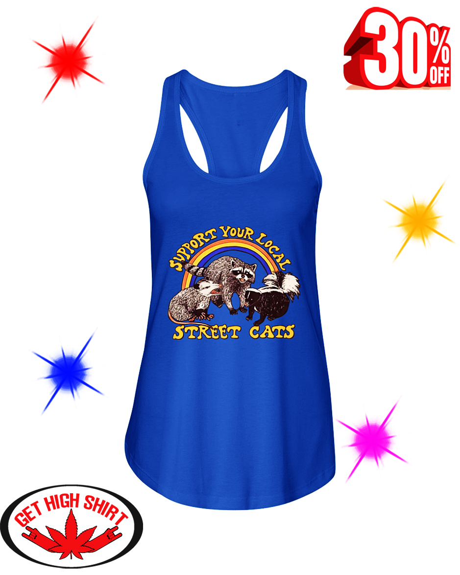 Support Your Local Street Cats flowy tank