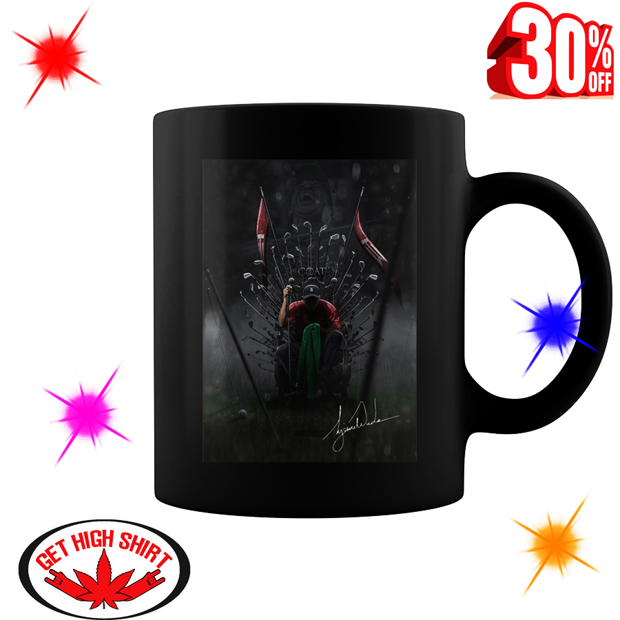 Tiger Woods The Goat Game Of Thrones Poster mug - black