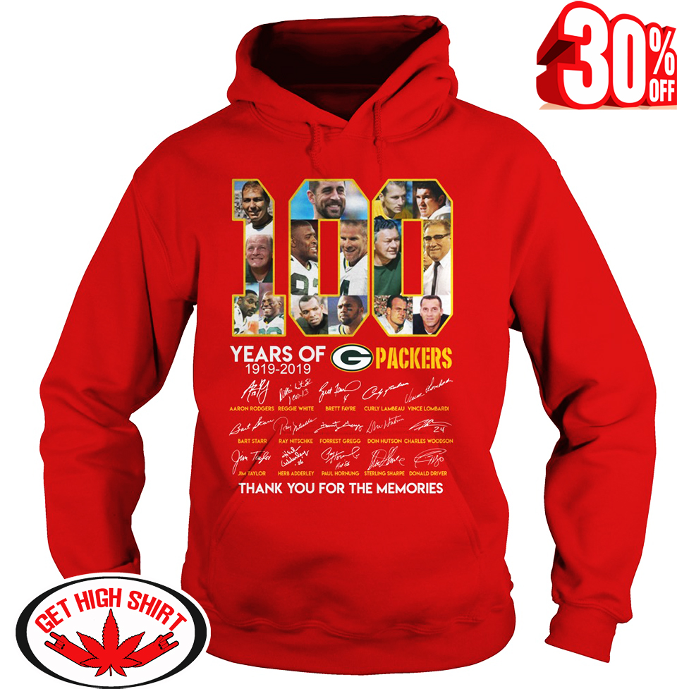 100 years of Packers thank you for the memories hoodie