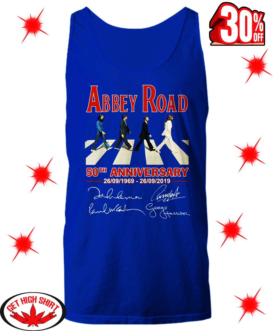 (Official) Abbey Road 50th Anniversary Signature shirt