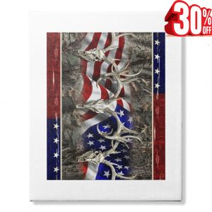Deer Hunting 4th of July canvas