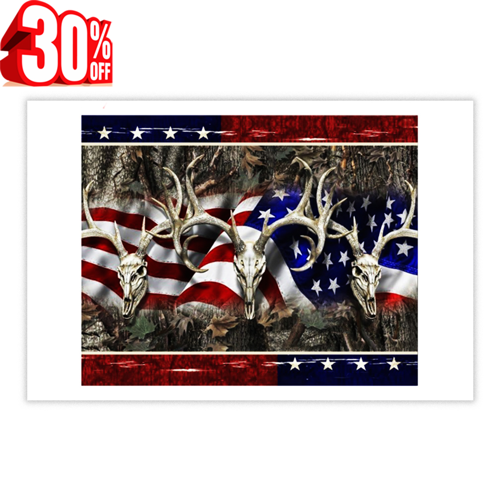 Deer Hunting 4th of July poster 17x11
