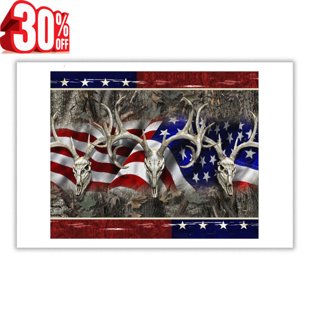 Deer Hunting 4th of July poster 24x16