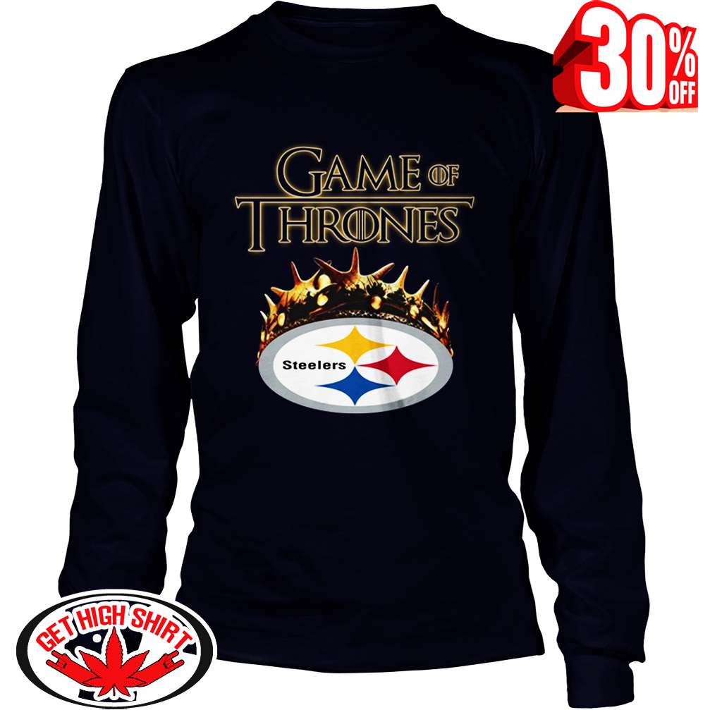 Game Of Thrones Crown Steelers long sleeve tee