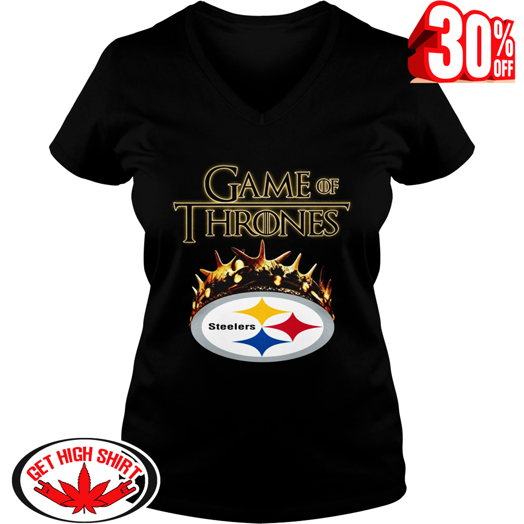 Game Of Thrones Crown Steelers v-neck