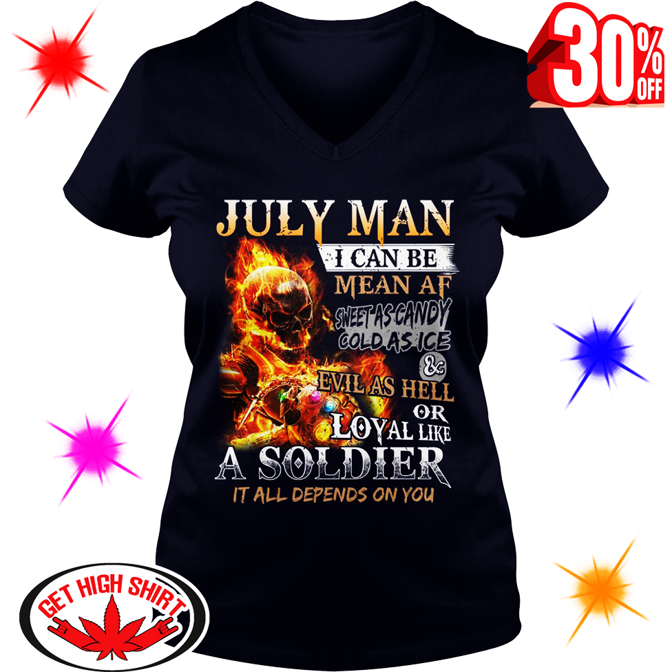 Ghost Rider Infinity Gauntlet July Man I Can Be Mean AF Sweet As Candy shirt