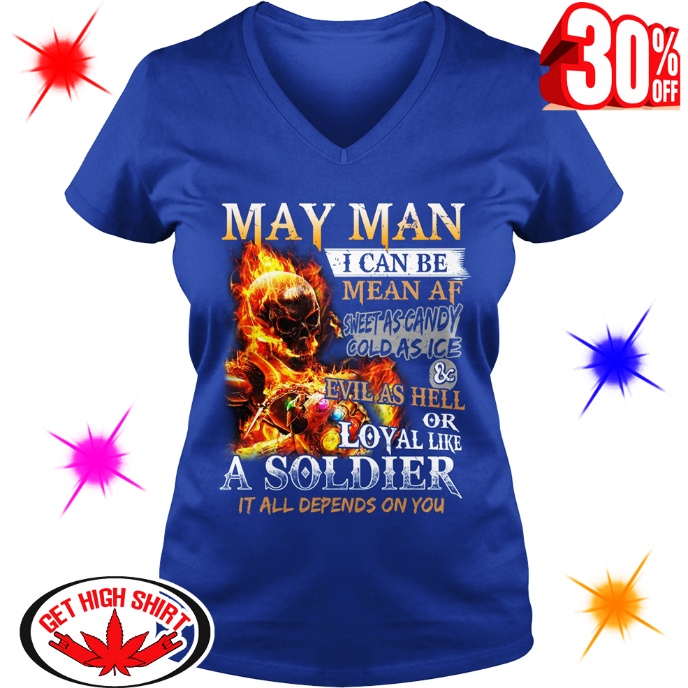 Ghost Rider Infinity Gauntlet May Man I Can Be Mean AF Sweet As Candy shirt