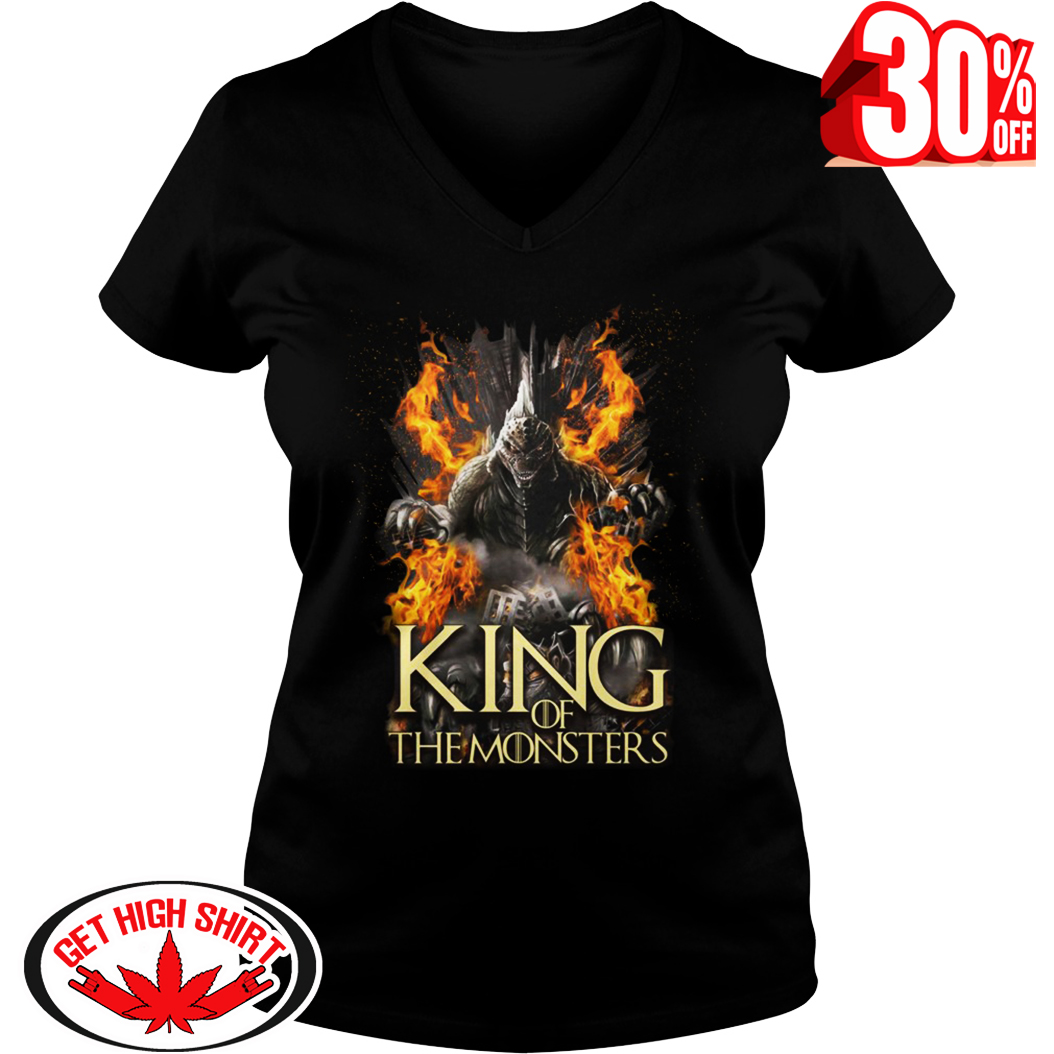 Godzilla King of the Monsters Game Of Thrones v-neck