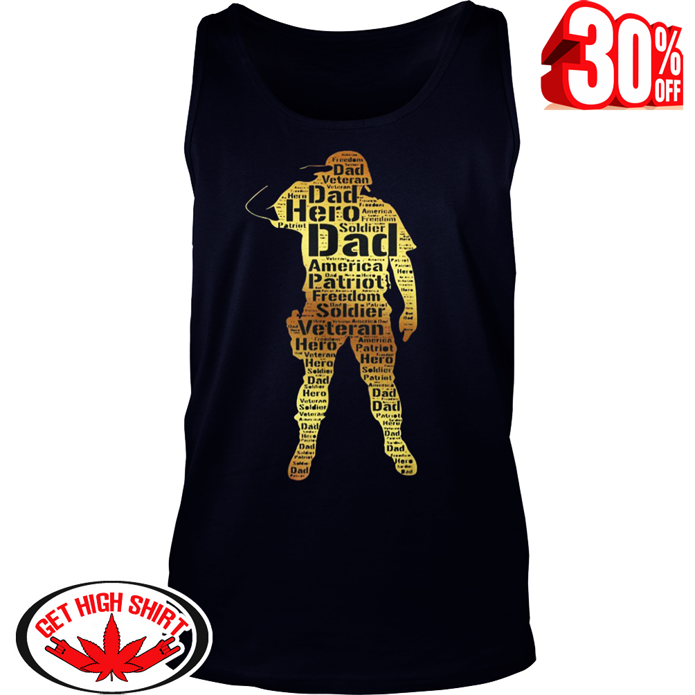 Handsome hero veteran dad tank top