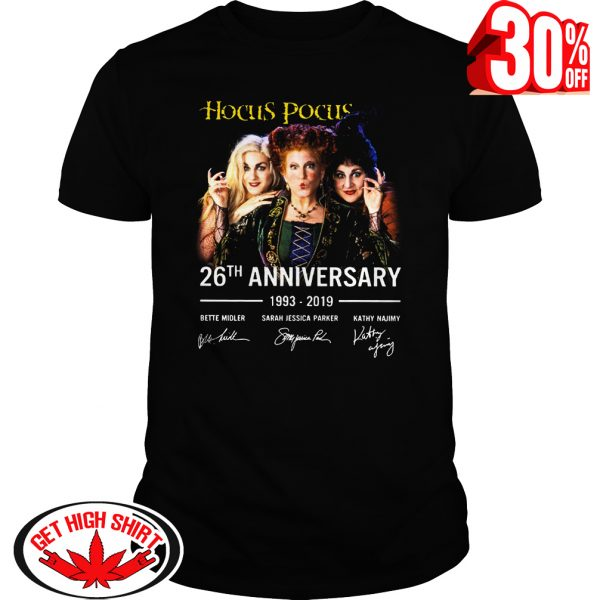 Hocus Pocus 26th anniversary 1993-2019 signature shirt