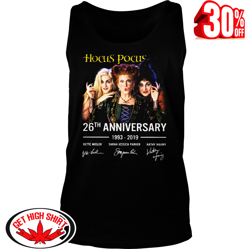 Hocus Pocus 26th anniversary 1993-2019 signature tank top