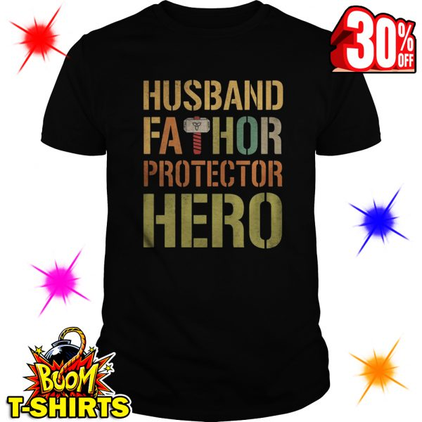Husband Fathor Protector Hero shirt
