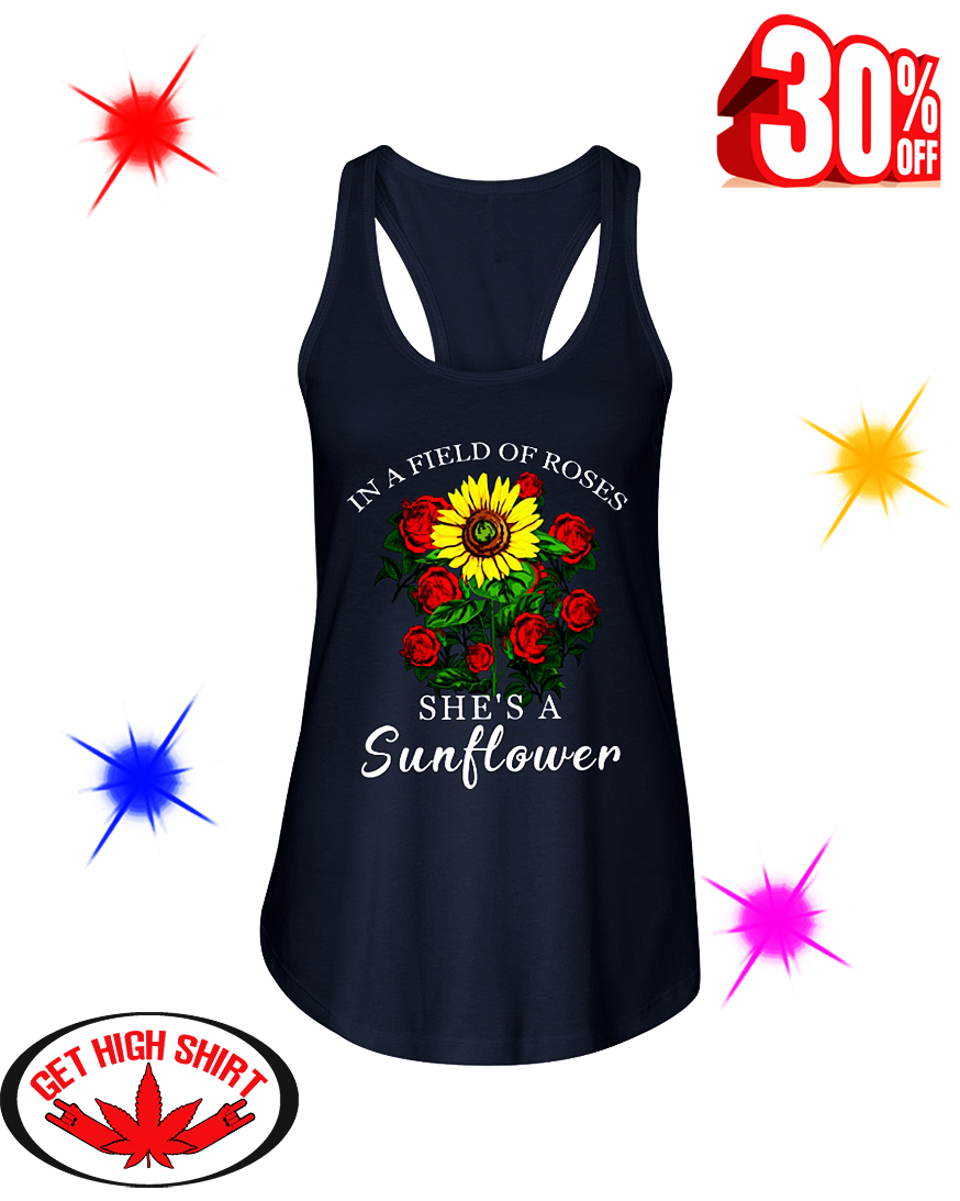 Cool – In a field of roses she's a sunflower shirt