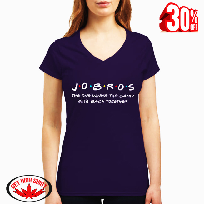 Jobros the one where the band gets back together v-neck t-shirt