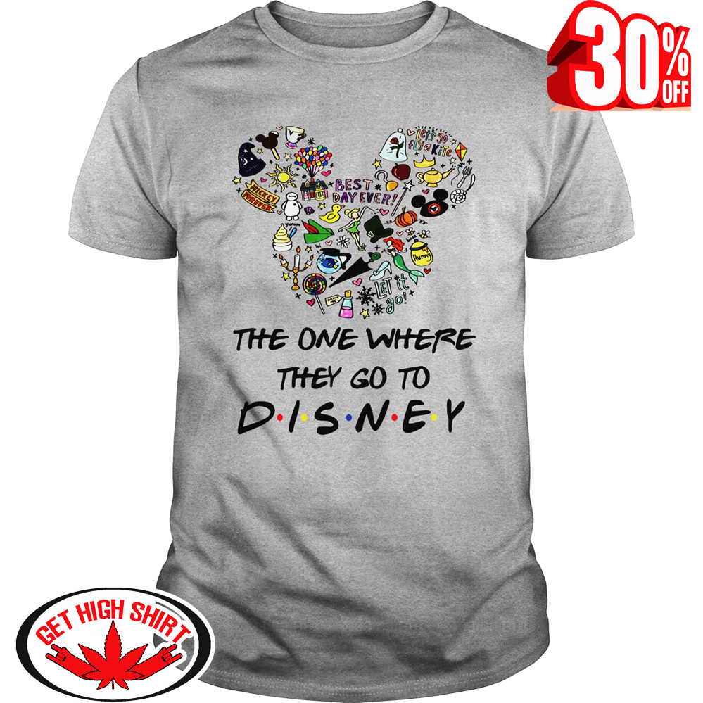 2c9c5cfe Review The one where they go to Disney Friends Parody shirt, v-neck ...