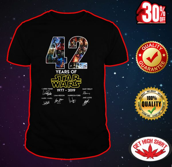 42 years of Star Wars 1977 2019 shirt