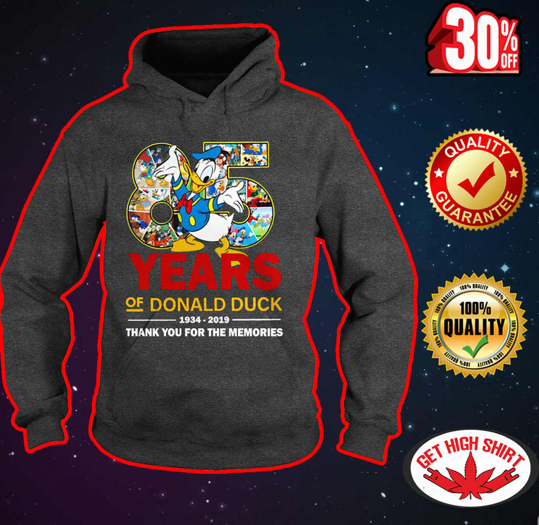 85 years of Donald Duck 1934-2019 thank you for the memories hoodie