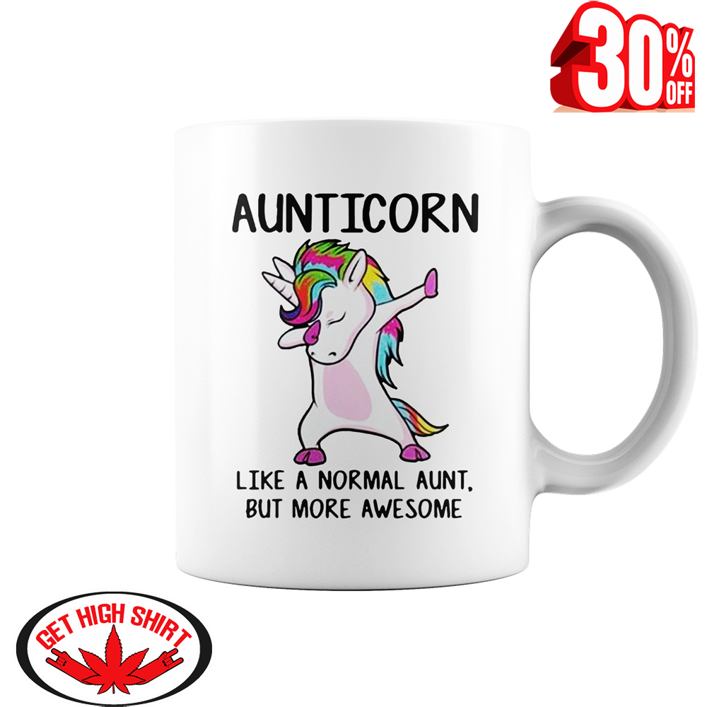 Auticorn like a normal aunt but more awesome mug style 1 - white