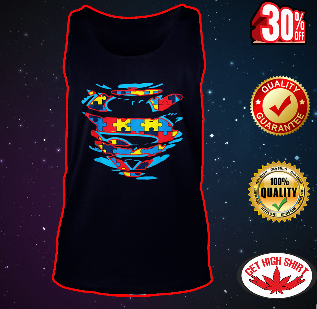 Autism Superman tank top