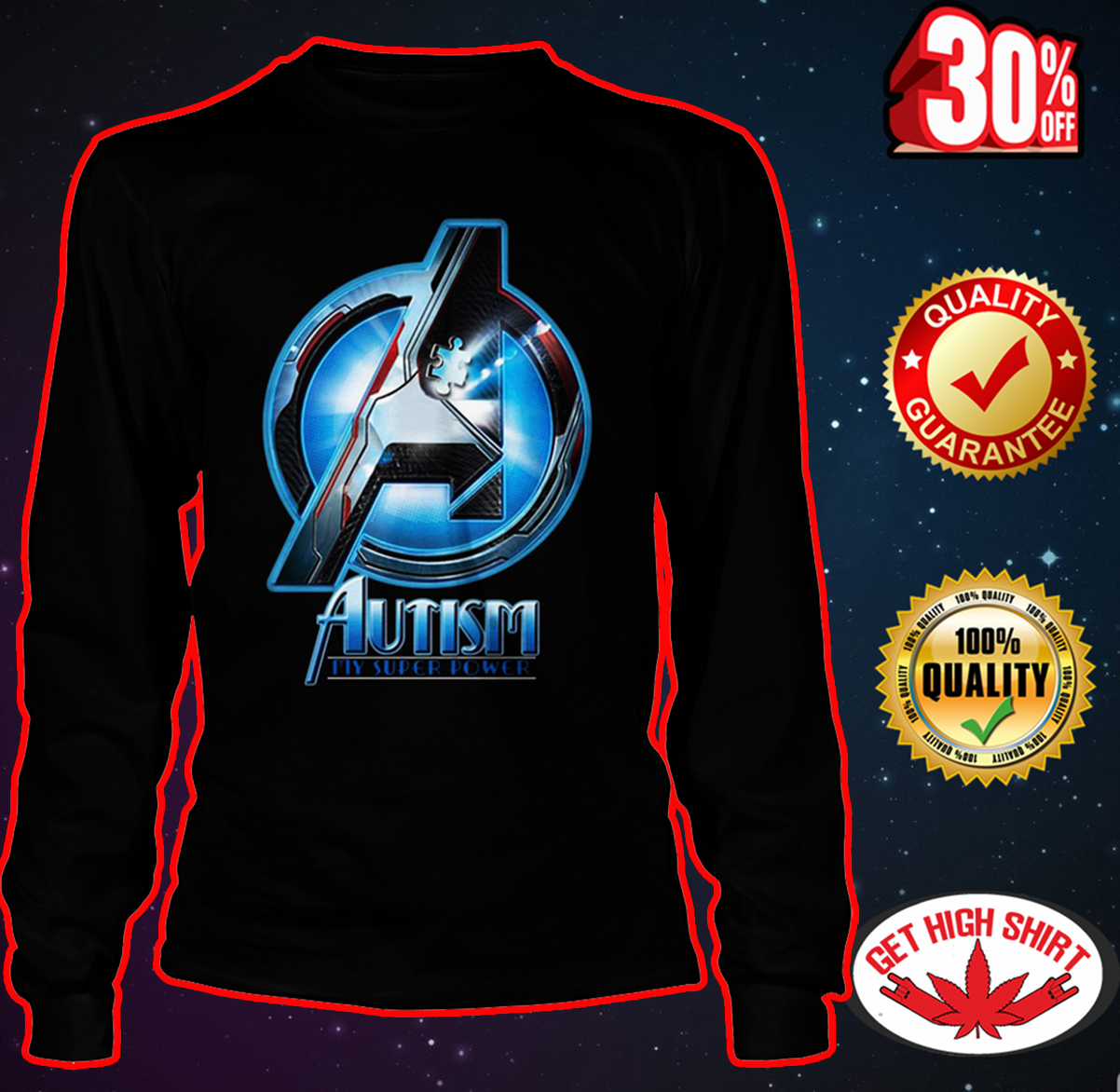 Avengers autism my super power long sleeve tee