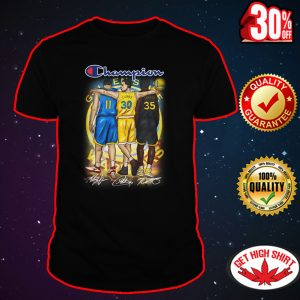 Champion Thompson Curry Durant signatures shirt