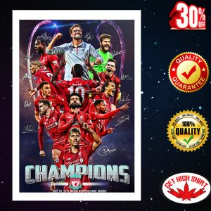 Champions League Liverpool Signature Poster