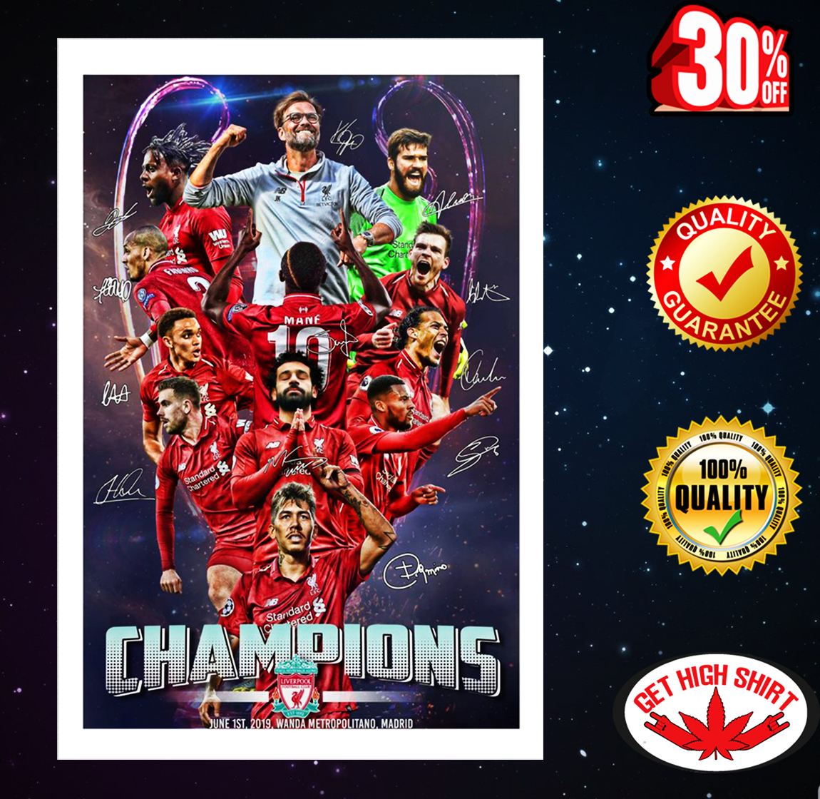 Champions League Liverpool Signature Poster 16x24